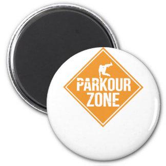 Parkour Runaway Extreme Sports Stunt Free Running Magnet