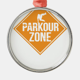 Parkour Runaway Extreme Sports Stunt Free Running Metal Ornament