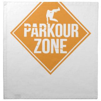 Parkour Runaway Extreme Sports Stunt Free Running Napkin