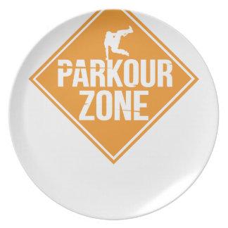 Parkour Runaway Extreme Sports Stunt Free Running Plate