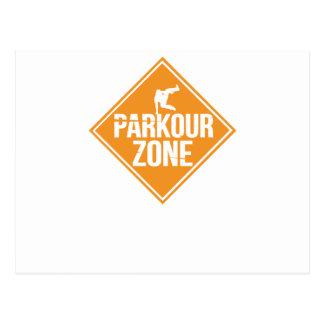 Parkour Runaway Extreme Sports Stunt Free Running Postcard