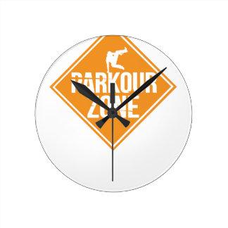 Parkour Runaway Extreme Sports Stunt Free Running Round Clock