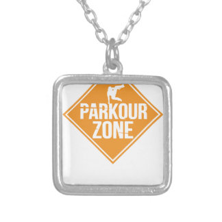 Parkour Runaway Extreme Sports Stunt Free Running Silver Plated Necklace