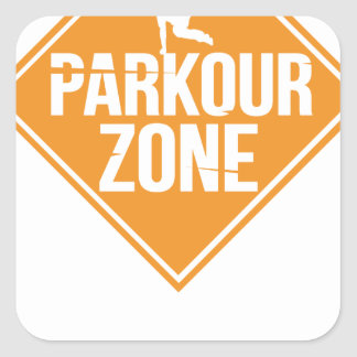 Parkour Runaway Extreme Sports Stunt Free Running Square Sticker