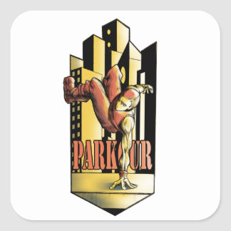 parkour square sticker