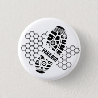 Parkour Training 1 Inch Round Button