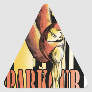 parkour triangle sticker