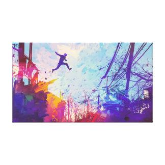 Parkour Urban Free Running Canvas Wall Art