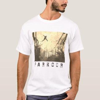 Parkour Urban Free Running Free Styling Art Sepia T-Shirt