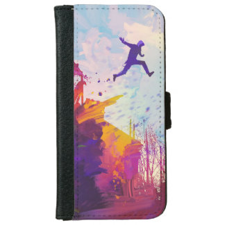 Parkour Urban Free Running Free-styling Modern Art iPhone 6 Wallet Case