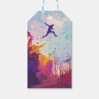 Parkour Urban Free Running Free-styling Sport Art Gift Tags