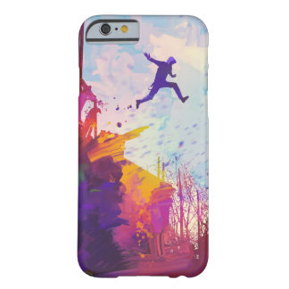 Parkour Urban Free Running Freestyling Modern Art Barely There iPhone 6 Case