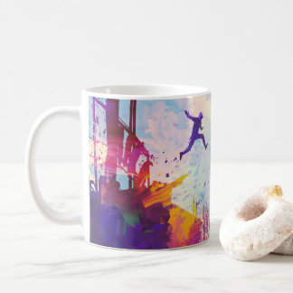 Parkour Urban Free Running Freestyling Modern Art Coffee Mug