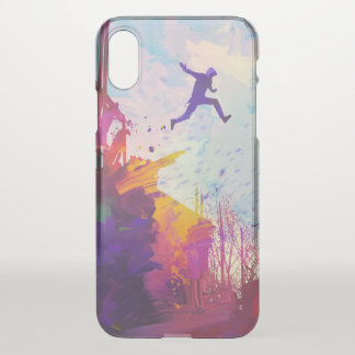 Parkour Urban Free Running Freestyling Modern Art iPhone X Case
