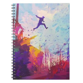 Parkour Urban Free Running Freestyling Modern Art Notebook