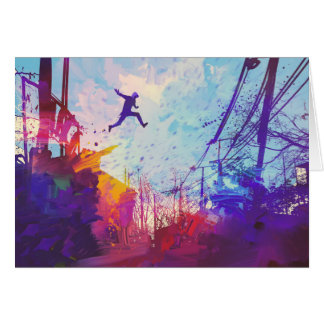 Parkour Urban Free Running Greeting Card - Blank