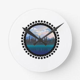 Parks and Recreation Round Clock