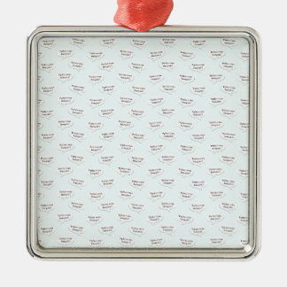 Parlez-vous francais? Wallpaper Silver-Colored Square Ornament