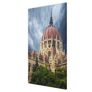 Parliament Building Composit Canvas Print