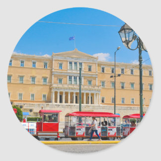 Parliament building in Athens, Greece Classic Round Sticker