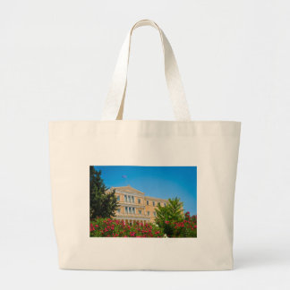 Parliament building in Athens, Greece Large Tote Bag
