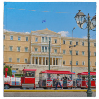 Parliament building in Athens, Greece Napkin