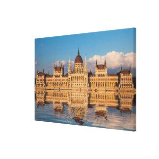 Parliament Building River Reflection Canvas Print