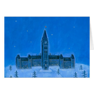 Parliament Buildings Ottawa Christmas Card