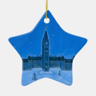 Parliament Buildings Ottawa Christmas Ceramic Ornament