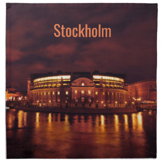Parliament House in Stockholm, Sweden Napkin