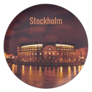 Parliament House in Stockholm, Sweden Plate