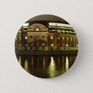 Parliament House (Riksdagshuset) in Stockholm 2 Inch Round Button