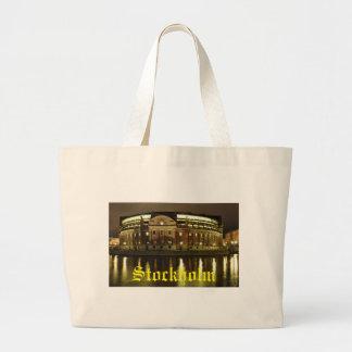 Parliament House (Riksdagshuset) in Stockholm Large Tote Bag