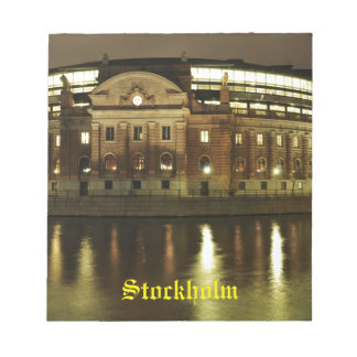 Parliament House (Riksdagshuset) in Stockholm Notepad