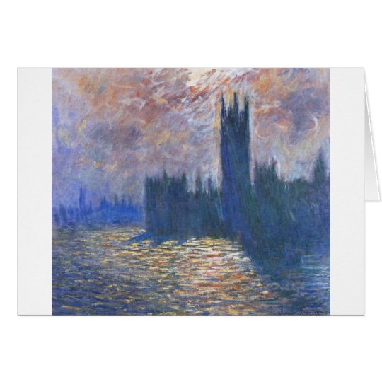 Parliament, Reflections on the Thames Claude Monet Card