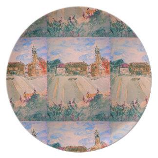 parma italy art dinner plate