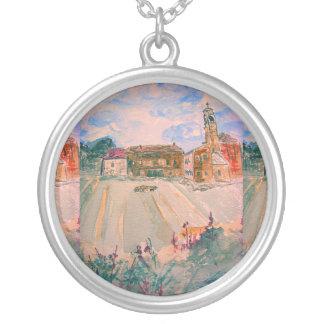 parma italy round pendant necklace