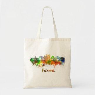 Parma skyline in watercolor tote bag
