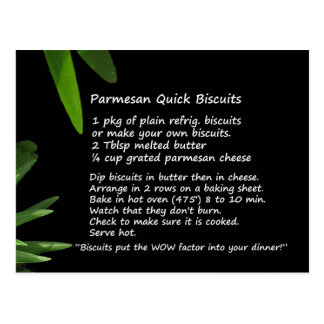 Parmesan Quick Biscuits Recipe Postcard