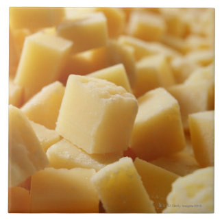 Parmigiano Reggiano cheese in cubes Tile