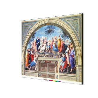 Parnassus and the Disputa, from the Stanza della S Canvas Print