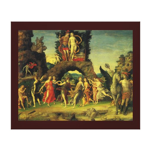 Parnassus; Mars and Venus by Andrea Mantegna Canvas Print