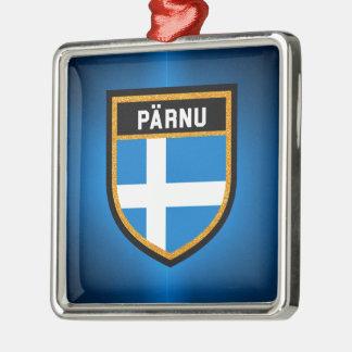 Pärnu Flag Metal Ornament
