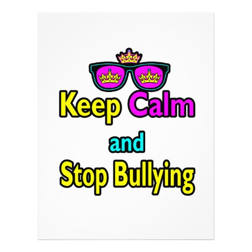 Parody Hipster  Keep Calm And Stop Bullying Flyer Design