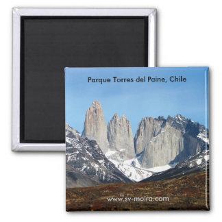 Parque Torres del Paine, Chile Square Magnet
