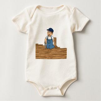 Parquet Flooring Floor Fitter CAS UAL Construction Baby Bodysuit