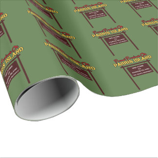 "Parris Island ""Sign"" Linen Wrapping Paper - 30""x6'"