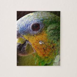 Parrot Amazon Animals Bird Green Exotic Bird Jigsaw Puzzle