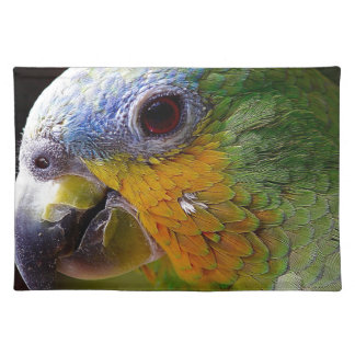 Parrot Amazon Animals Bird Green Exotic Bird Placemat