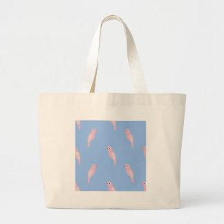 Parrot Ara Seamless Colorful Vector Pattern Large Tote Bag